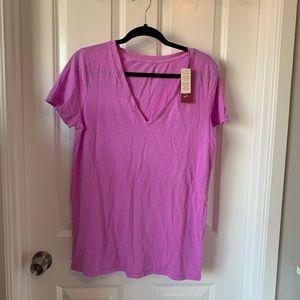 Merona purple pink lilac v neck tee shirt XL